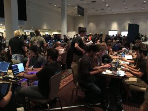 The contest area at DEF CON 26.